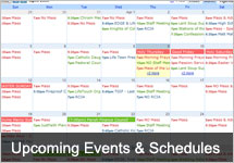 Upcoming Events and Schedules